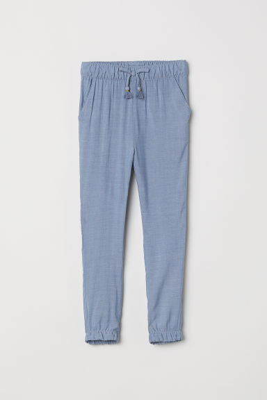 Pull-on trousers - Blue/Chambray -  | H&M CN