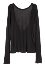 Top with a low-cut back - Black - Ladies | H&M GB 2