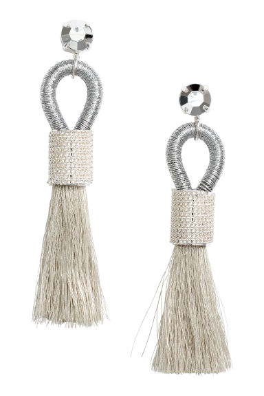Tasselled earrings - Silver-coloured - Ladies | H&M IE 1