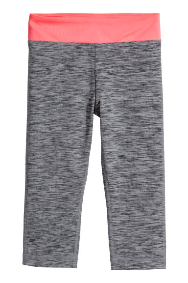 Collant training 3/4 - Gris foncé chiné -  | H&M FR