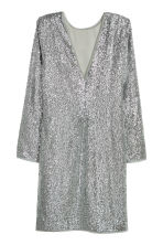 Sequined dress - Silver-coloured - Ladies | H&M 3