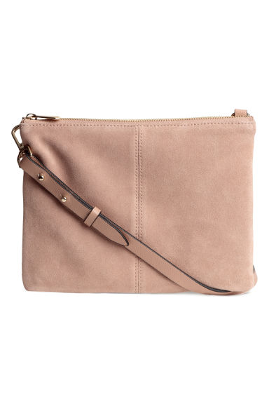 Small bag with suede details - Powder beige - Ladies | H&M GB