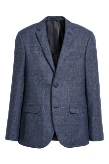 Blazer aus Wollmix Slim Fit