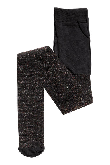 Glittery tights - Black -  | H&M CN