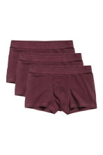 Lot de 3 boxers courts - Bordeaux - HOMME | H&M CH 1