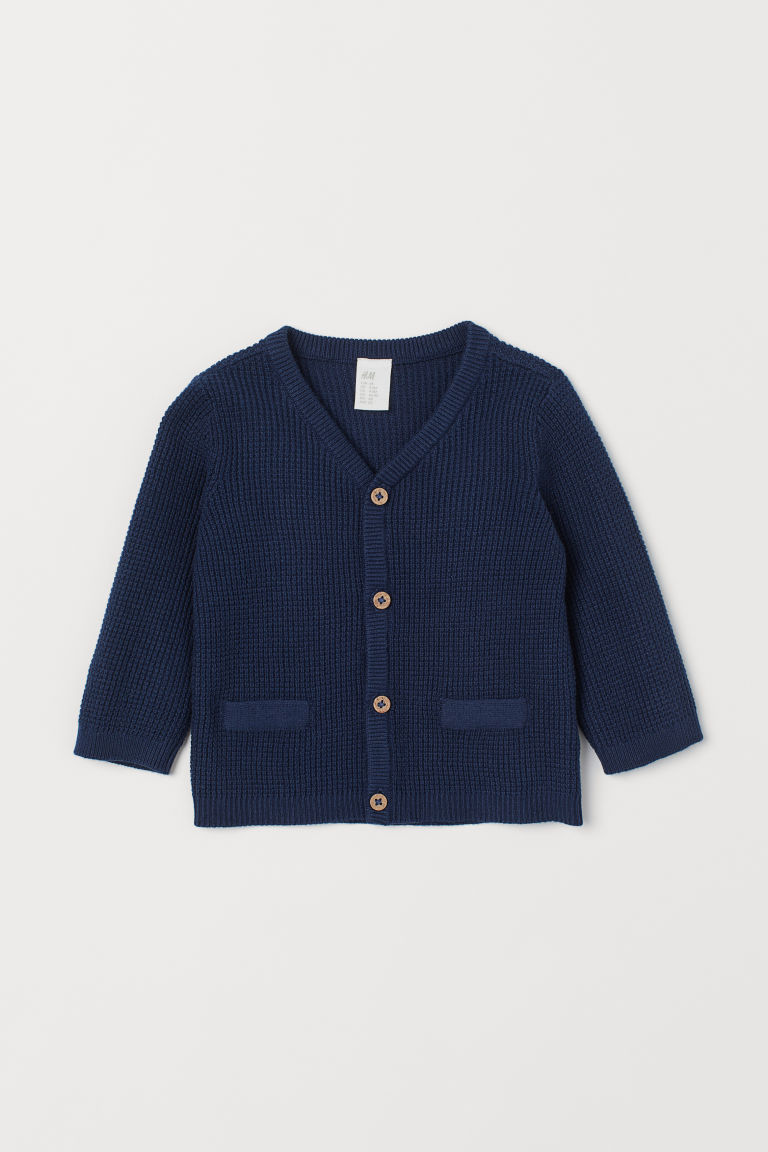 Cotton cardigan - Dark blue - Kids | H&M GB