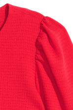 Puff-sleeved blouse - Bright red - Ladies | H&M 3