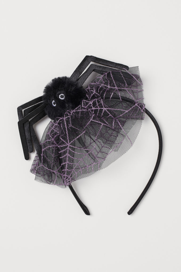 Alice band with spider - Night black/Spider - Kids | H&M GB