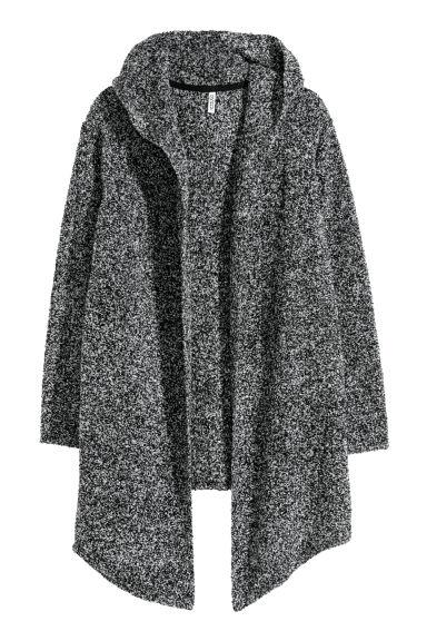 Hooded Cardigan - Gray - Ladies | H&M CA