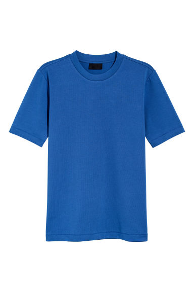 Cotton T-shirt - Bright blue - Men | H&M