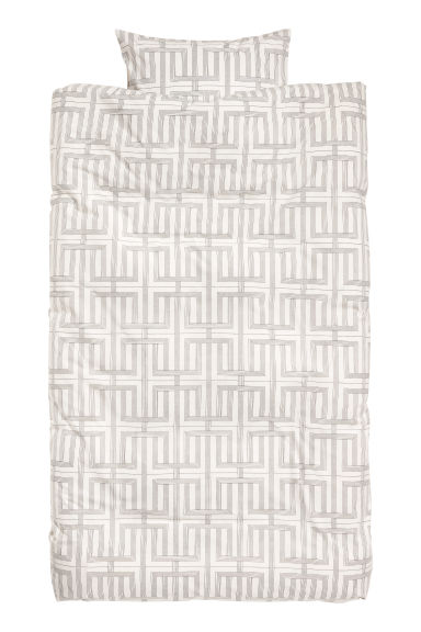 Patterned duvet cover set - Light beige/Patterned - Home All | H&M GB