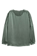 Silk blouse - Dusky green - Ladies | H&M IE 1