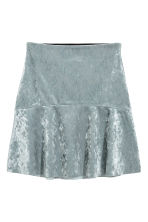 Crushed velvet skirt - Silver-coloured - Ladies | H&M IE 1