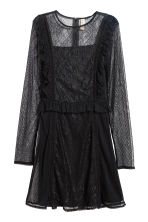 Frilled lace dress - Black - Ladies | H&M IE 2