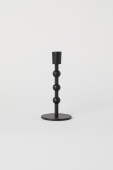 Short metal candlestick
