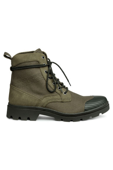 Chunky-soled boots - Khaki green - Men | H&M