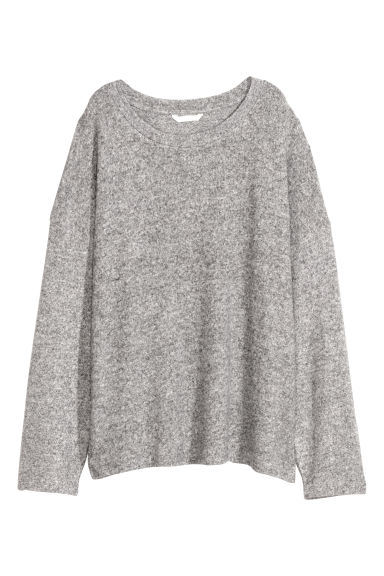 Fine-knit jumper - Light grey -  | H&M