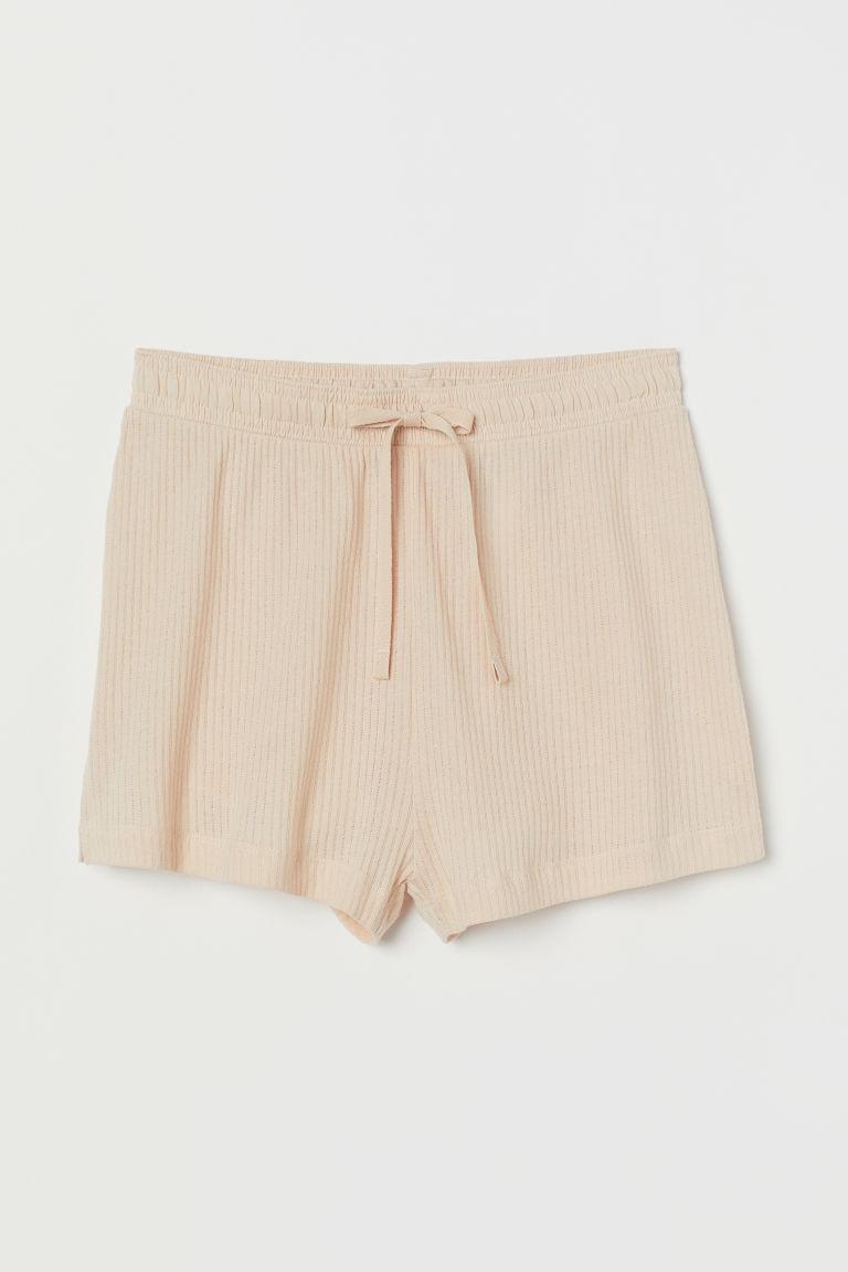 Pointelle Cotton Shorts