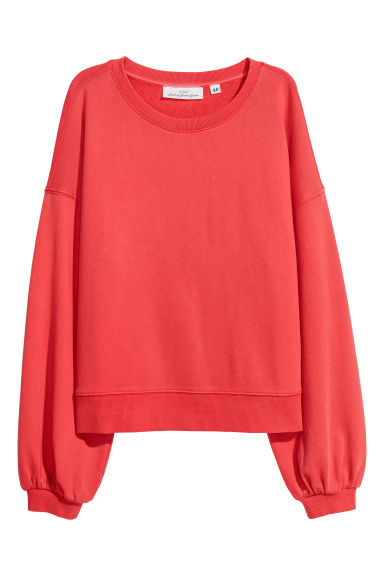 Sweatshirt - Bright red - Ladies | H&M