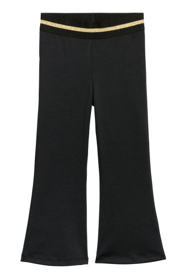 Flared jersey trousers - Black -  | H&M CN