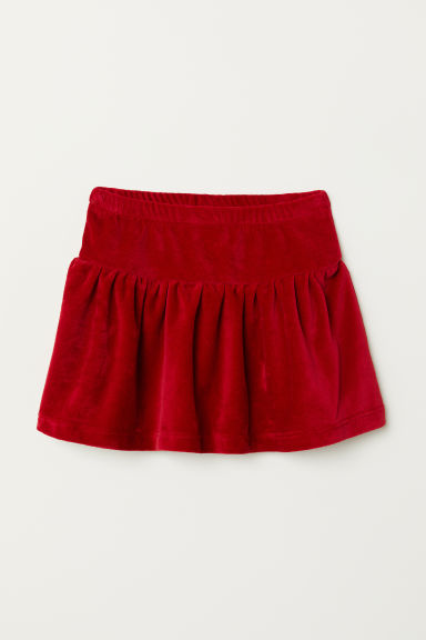 Jupe en velours - Rouge -  | H&M BE
