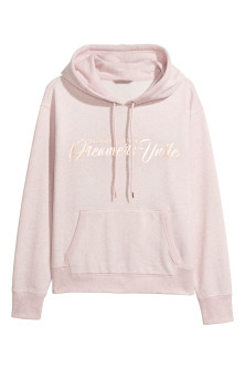 H&M+ Printed Hooded Sweatshirt