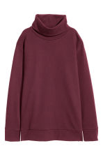 Polo-neck top - Burgundy - Ladies | H&M 1