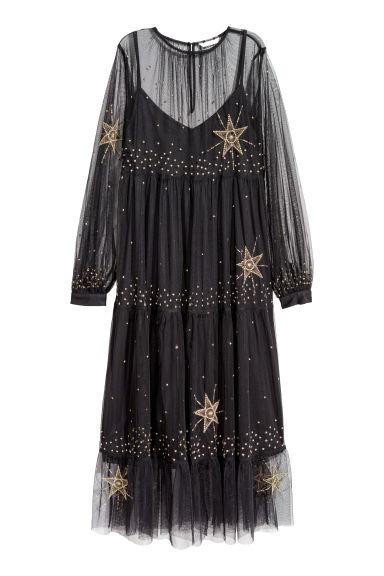 Robe en mesh transparent - Noir - FEMME | H&M FR