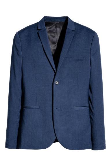 Jacket Super skinny fit - Dark blue - Men | H&M CN