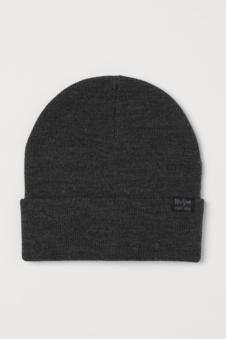 Knitted hat - Dark grey - Kids | H&M GB