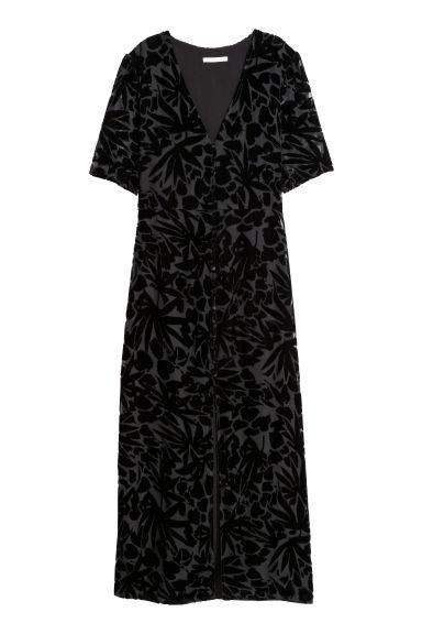 Robe longue à motif - Noir/motif - FEMME | H&M FR