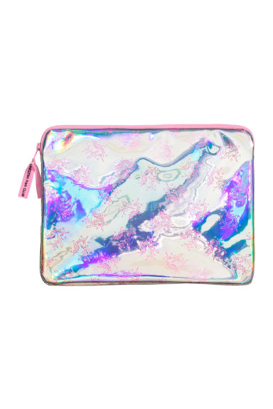 Laptop case - Silver-coloured/Pink -  | H&M IE