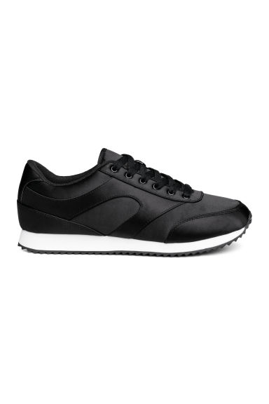 Satin trainers - Black - Ladies | H&M CN