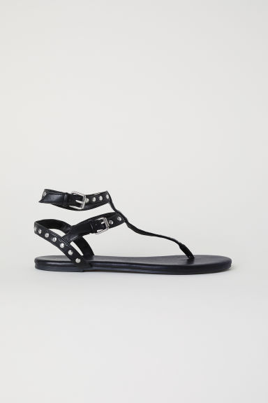 Sandali infradito con borchie - Nero - DONNA | H&M IT