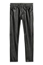 Imitation leather trousers - Black - Men | H&M CN 2