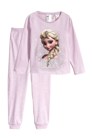 Jersey pyjamas - Light purple/Frozen - Kids | H&M 1