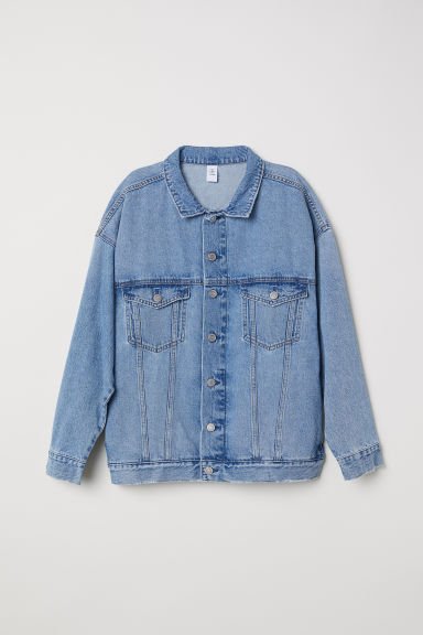 Oversized denim jacket - Light denim blue - Ladies | H&M