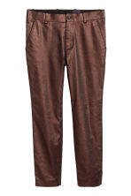 Metallic-coated trousers - Copper-coloured - Men | H&M 2