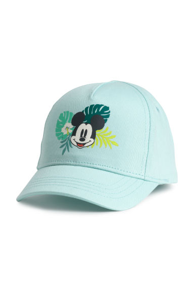 Printed cap - Light turquoise/Mickey Mouse - Kids | H&M CN