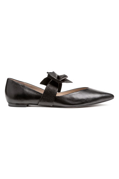 Ballet pumps - Black/Leather - Ladies | H&M CN