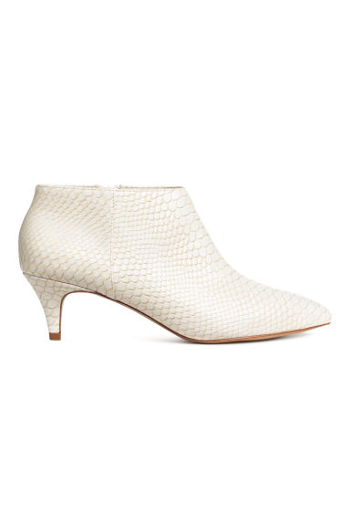 Snakeskin-patterned boots - White/Snakeskin pattern - Ladies | H&M