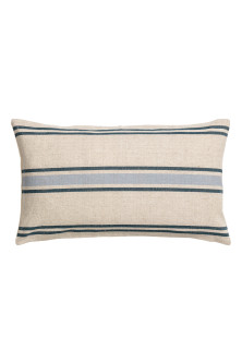 Linen-blend cushion cover