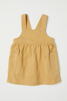 Cotton dungaree dress
