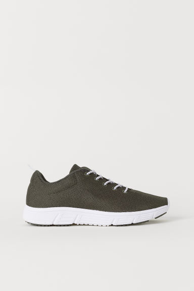 Sneakers in mesh - Verde kaki - BAMBINO | H&M IT