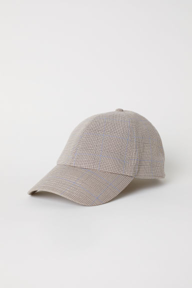 Checked cotton cap - Beige/Checked - Men | H&M
