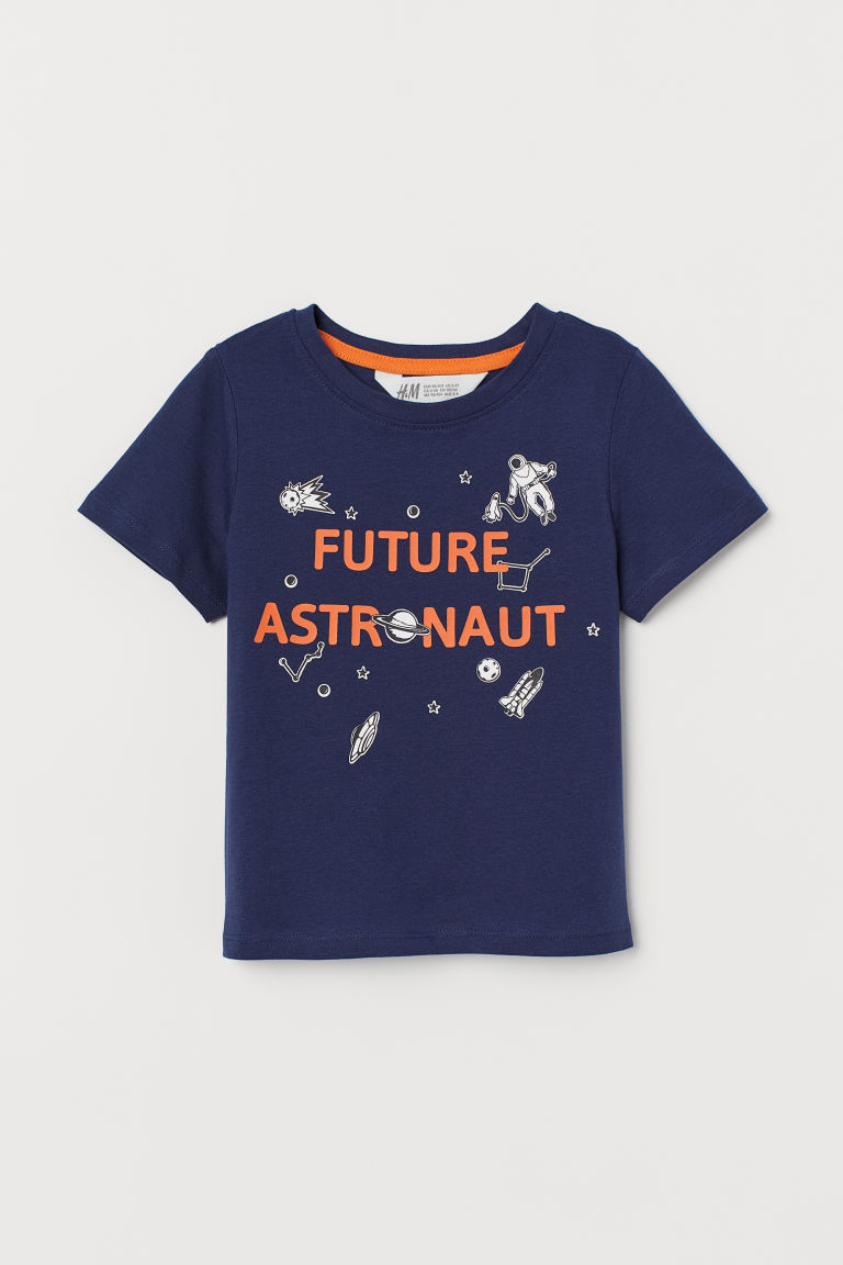 Printed T-shirt - Dark blue/Future Astronaut - Kids   H&M GB