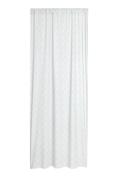 2-pack curtain lengths - Light grey/Patterned -  | H&M IE