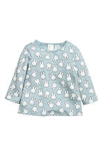 2-pack jersey tops - Dark grey/Turquoise - Kids | H&M CN 2
