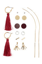 8 pairs earrings - Gold-coloured/Red - Ladies | H&M CN 2