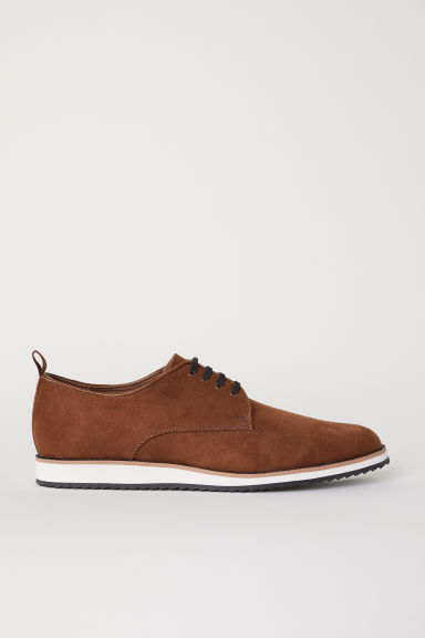 Imitation suede Oxford shoes - Brown - Men | H&M CN